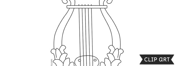 Lyre Template – Clipart