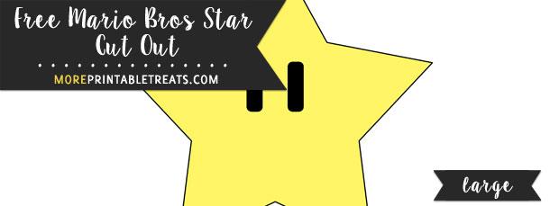Mario Bros Star Cut Out
