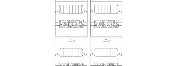 Marker Box Template – Small