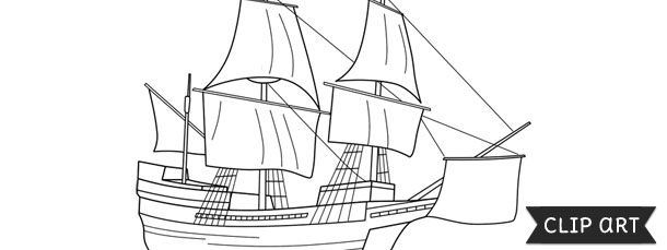 Mayflower Template Clipart