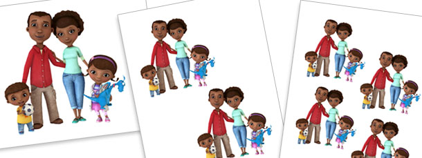 McStuffins Family Cut Outs