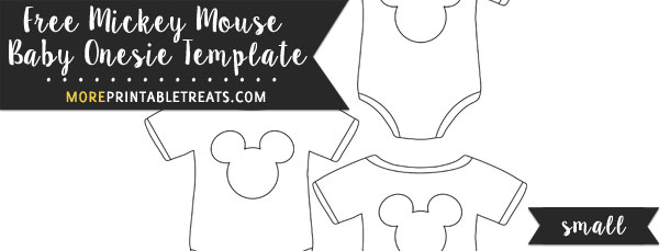 Mickey Mouse Baby Onesie Template  Small