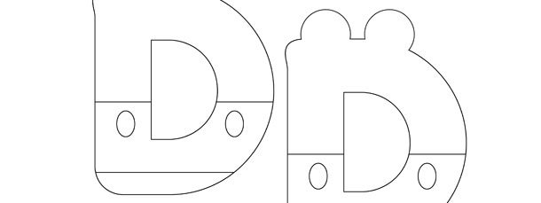 mickey mouse style letter d template medium