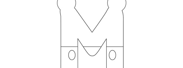 mickey mouse style letter m template large