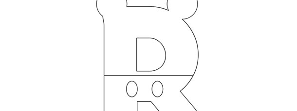 mickey mouse style letter r template large