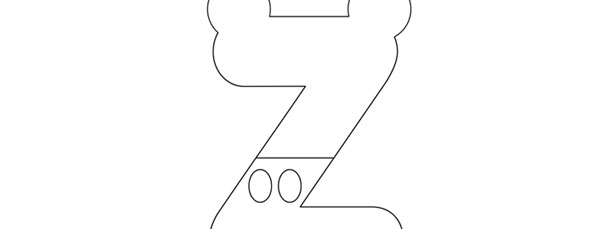 mickey mouse style letter z template large