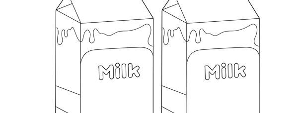 Milk Carton Template – Medium