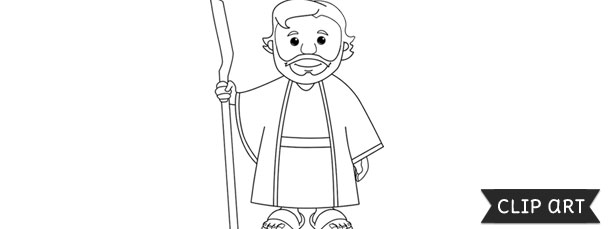 moses template � clipart