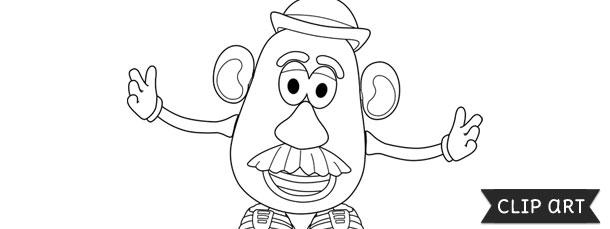 mr potato head template clipart rh moreprintabletreats com Mr Potato Head Meme mr potato head clipart free