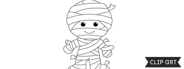 Mummy Template Clipart