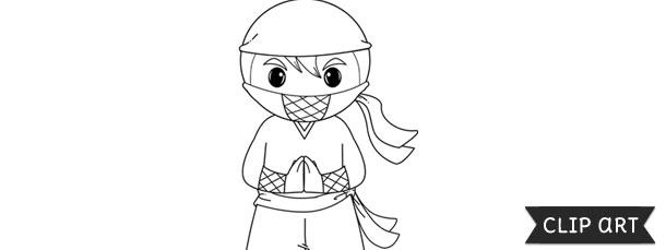 ninja template clipart