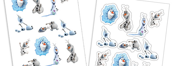 Olaf Frozen Sticker Sheet