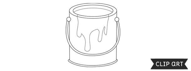 Paint Can Template Clipart