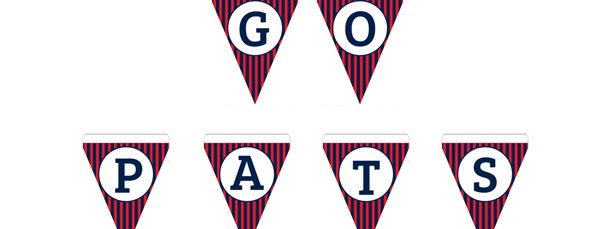 Patriots Colors DIY Banner Letters N-Z