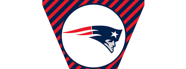 Patriots Pennant Flag – Diagonal Striped