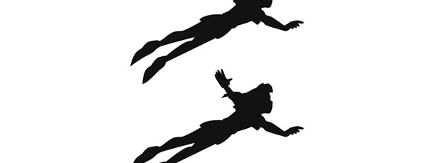 peter pan flying silhouette cut out medium