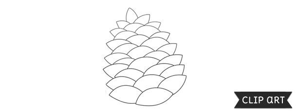 pine cone template � clipart