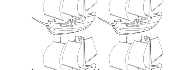 Pirate Ship Template Small