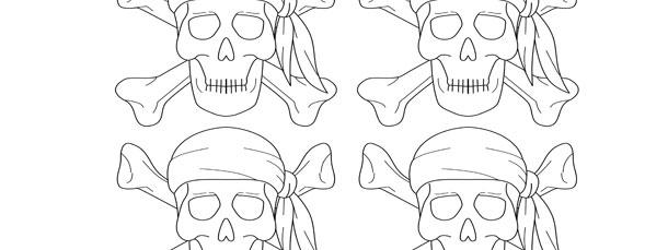 Pirate bandana template - photo#37