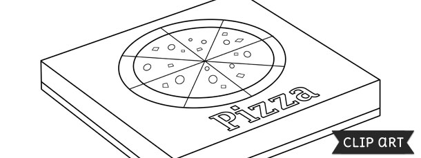 Pizza Box Template Clipart