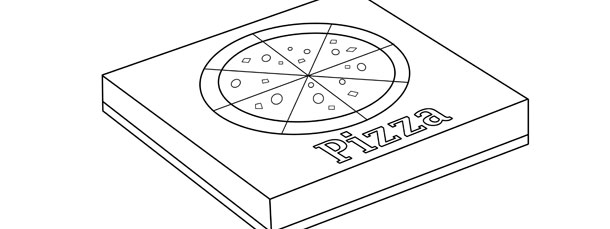 Pizza Box Template Large
