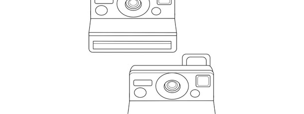 graphic relating to Camera Template Printable known as Polaroid Digital camera Template Medium