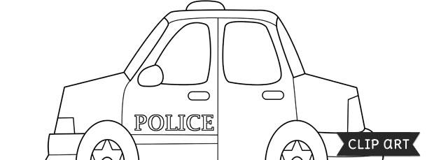 police car template clipart