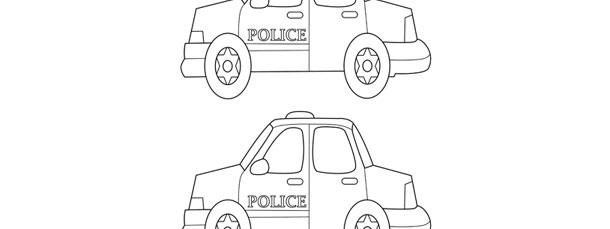 police car template medium