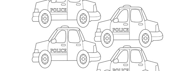 police car template small