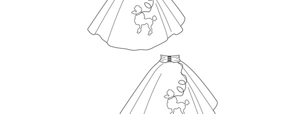 Poodle Skirt Template Medium