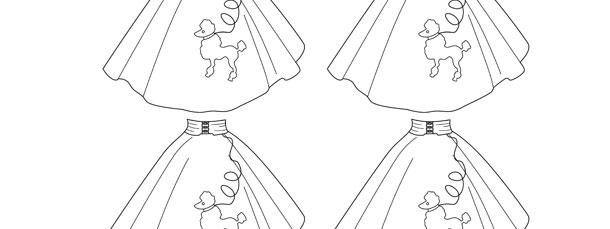 Poodle Skirt Template Small