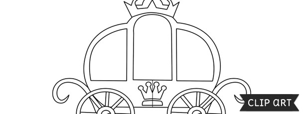 Princess Carriage Template Clipart