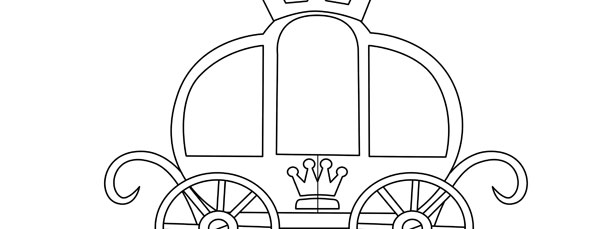 princess carriage template  u2013 large
