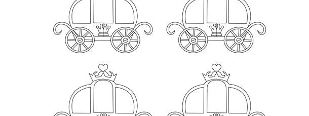 Princess Carriage Template Small