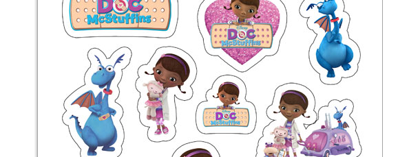 photograph about Doc Mcstuffins Printable Labels called Print at Property Document McStuffins Stickers