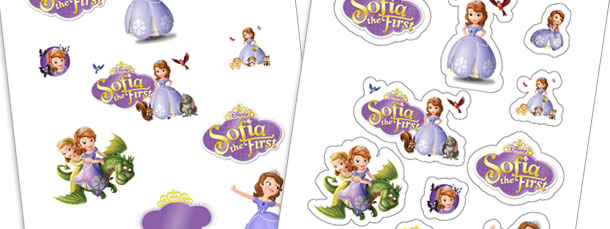 Print at Home Sofia the First Stickers
