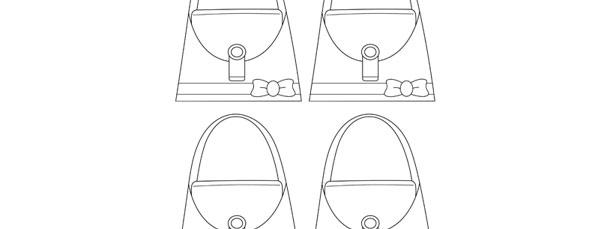 purse template small