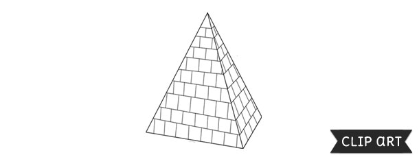 Pyramid Template – Clipart
