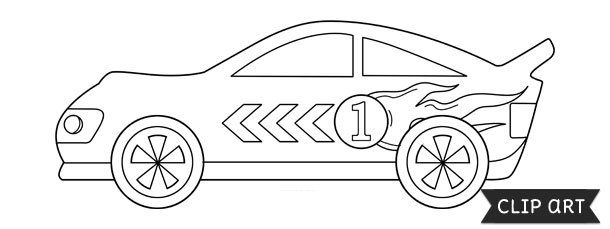 Racecar template clipart for Blank race car templates