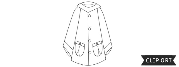 Raincoat Template Clipart