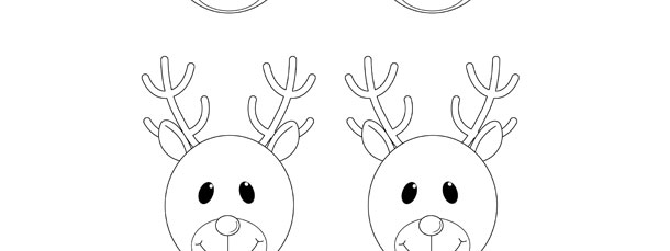 Reindeer Face Template – Small