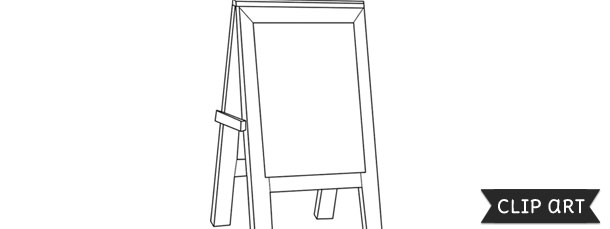 Restaurant Chalkboard Menu Easel Template – Clipart