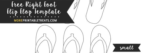 Right Foot Flip Flop Template – Small