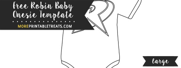 Robin Baby Onesie Template Large