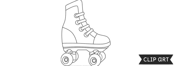 rollerskate template clipart