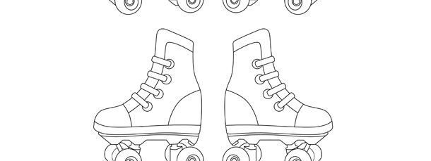 rollerskate template small