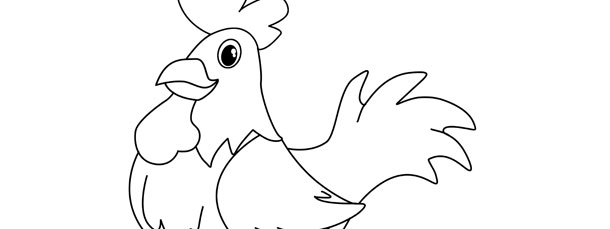 Rooster Template – Large