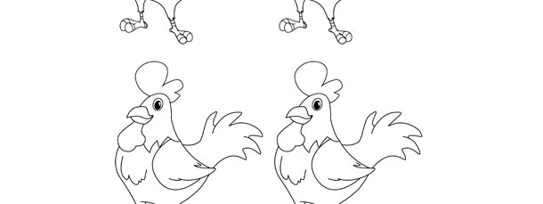 Rooster Template – Small
