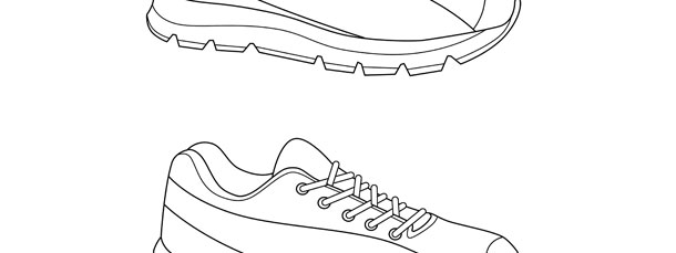 Running Shoe Template Medium