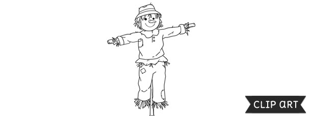 Scarecrow Template Clipart